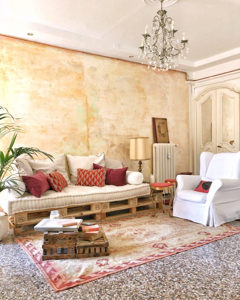 Area Relax nel soggiorno del B&B Casa Ramé a Genova