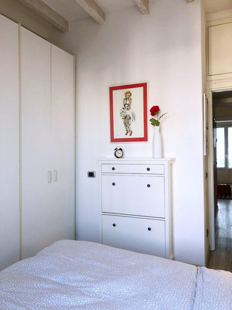 """Parte della camera di """"Vintage Flat - Porta Romana"""""""